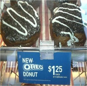 Tims & the new Oreo donut