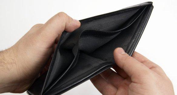wallet, no money, marketing