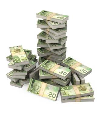 $20, Canadian money, dollar bills, bills, cash