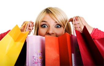 Holiday, shopping, woman, bags, retail