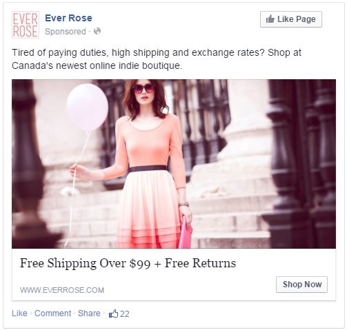 Ever Rose Modcloth Directed Ad