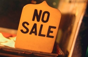 no sale, no sale sign